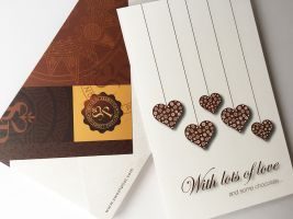 With lots of Love and some chocolate card sweetpost
