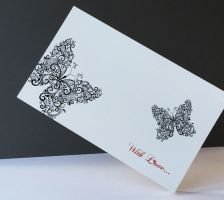 With Love greeting card with butterflies sweetpost