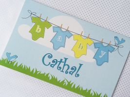 Baby boy personalised card