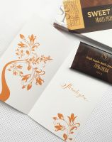 thank you card Go orange with irish chocolate and sweetpost packaging