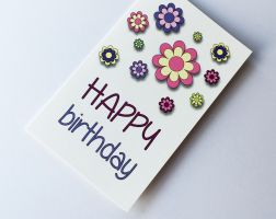 Colourful flowers greeting card for Kids
