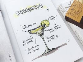Margarita cocktail greeting card and Sweetpost packaging