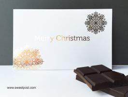 Merry Christmas Gold print greting card sweetpost